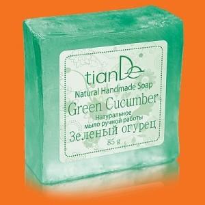 """Prírodné ručne robené mydlo """"Zelená uhorka"""""""